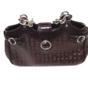 Brighton Brown Bronze Heart Pattern Handbag Purse